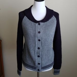 Button front Letterman's style cardigan